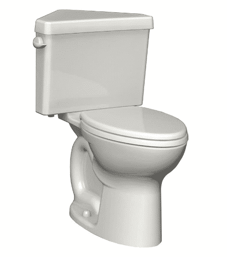 American Standard 270BD001.020 Cadet 3 Right Height Round Front Two-Piece Triangle Toilet
