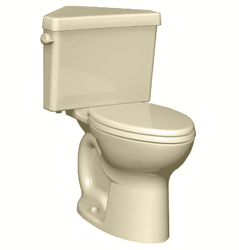 American Standard 270BD001.021 Cadet 3 Right Height Round Front Two-Piece Triangle Toilet