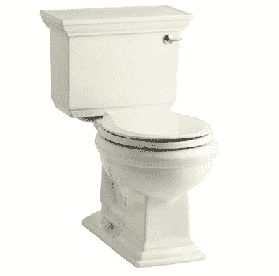 Kohler K-3933-RA-0 Memoirs Comfort-Height Two-Piece Round-Front Toilet
