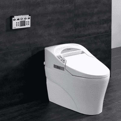 Ove Decors 735H Smart Bidet Toilet Elongated One Piece Modern Desing, Automatic Flushing, Heated Seat